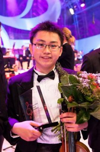 Winner of Eurovision Young Musicians 2014, 15-year-old Ziyu He who represented Austria