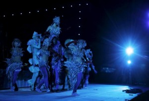 Dancers perform during a dress rehearsal for Carmina Burana by Carl Orff ahead of the Israeli Opera Festival, which begins Thursday, at Masada June 3, 2015. REUTERS/Ammar Awad