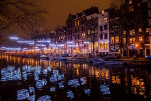 Effervescence of Geraud Périole, Amsterdam Light Festival 2014-2015, photograph Janus van den Eijnden