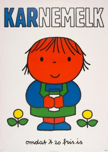 Dick Bruna Karnemelk omdat t zo fris is 1971 ® copyright Mercis bv