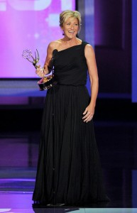 "Ms. Falco accepting an Emmy in 2010 for the work on ""Nurse Jackie."" Kevin Winter/Getty Images"