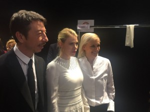 Barbara Berlusconi, CEO of AC Milan, guest at Valentino Fashion Show in Paris with the stylists Grazia Chiuri e Pierpaolo Piccioli. (PRNewsFoto/A.C. Milan Spa)