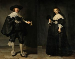Rembrandt van Rijn (1606-1669), Portraits of Marten Soolmans and Oopjen Coppit, 1634 Oil on canvas. Joint purchase by the Kingdom of the Netherlands and the Republic of France, Rijksmuseum Collection/ Musée du Louvre Collection, 2016
