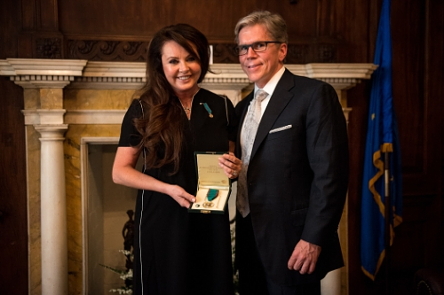 Sarah Brightman and partner Charles L. Beames (PRNewsFoto/Sarah Brightman)